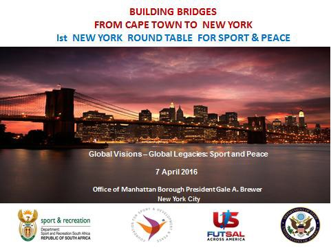 1st New York Roundtable for Sport and Peace IMAGE